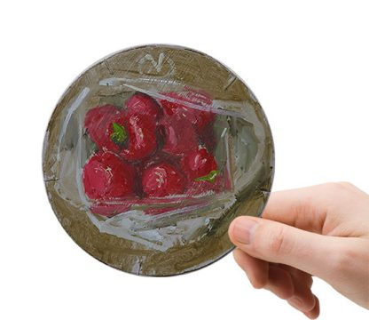 Aardbeien in plastic