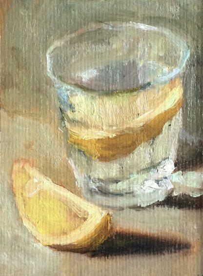 Citroen in waterglas