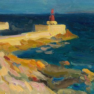 Playa d'Olla bij avond