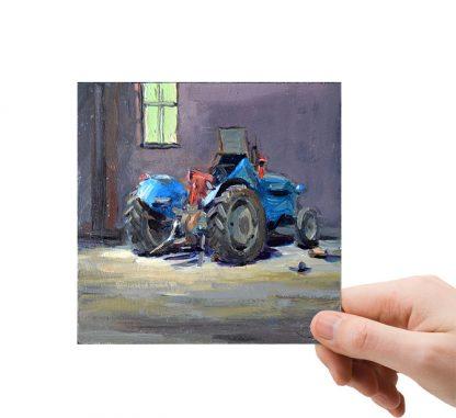 Tractor weggezet