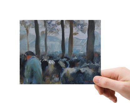 Tussen de koeien