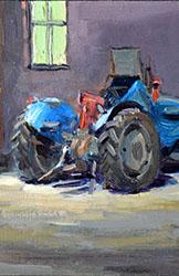 Tractor weggezet (Edwin Grissen)